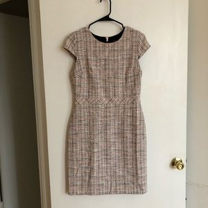 Banana republic sheath plaid dress
